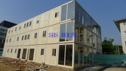 Prefabricated office container building in Myanmar