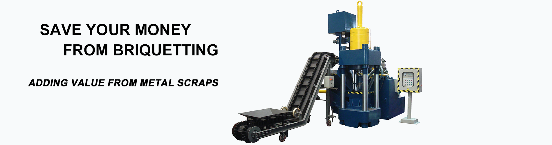 metal briquetting machine banner