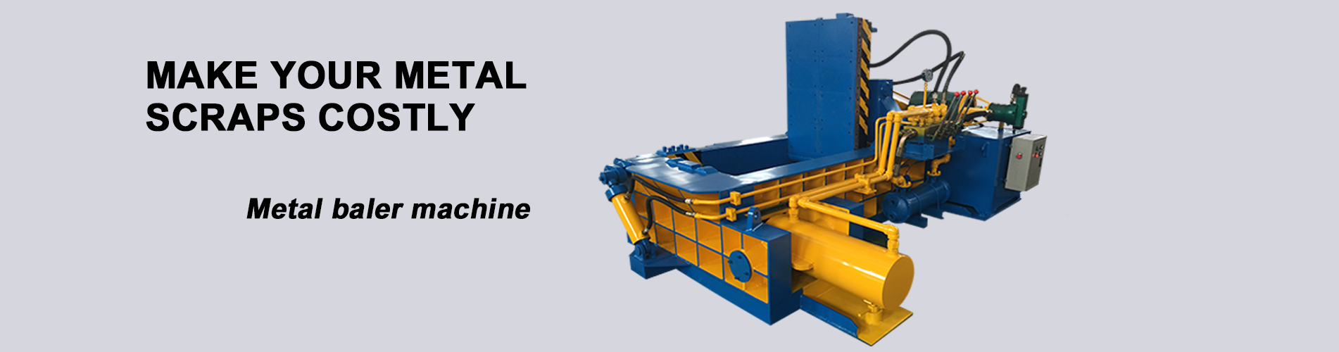 Metal baler machine banner