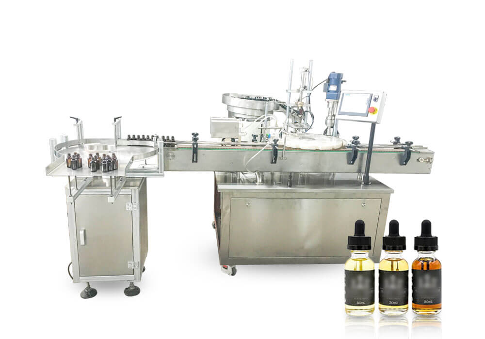 E-liquid filling and capping machine