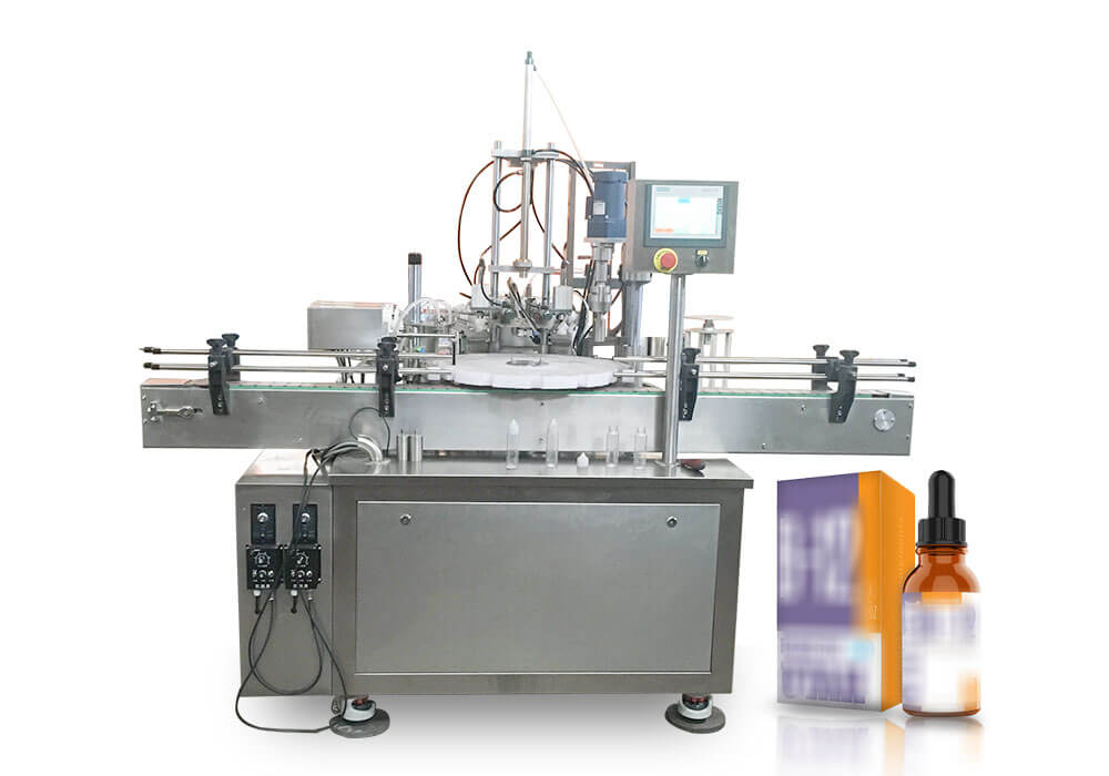 Liquid vitamin filling machine