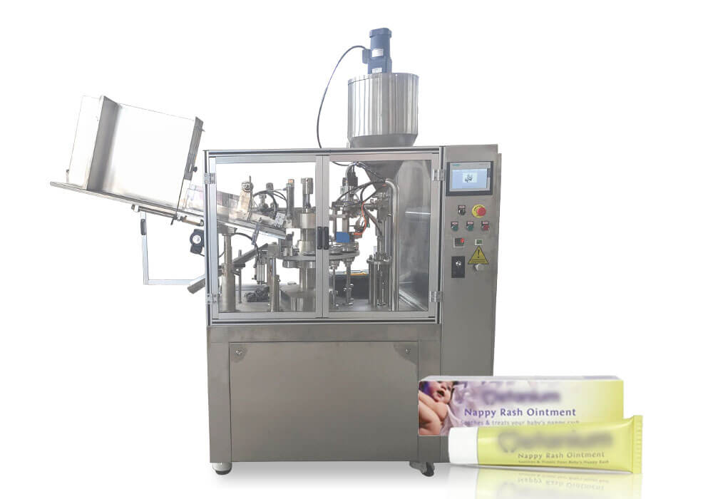 Ointment tube filling sealing machine
