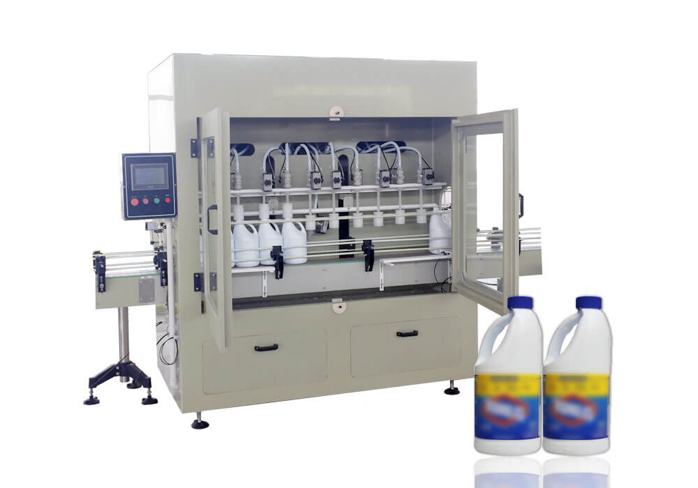 Bleach filling and capping machine