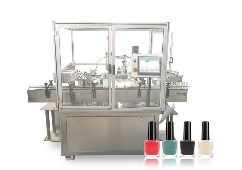 Nail glue filling capping machine