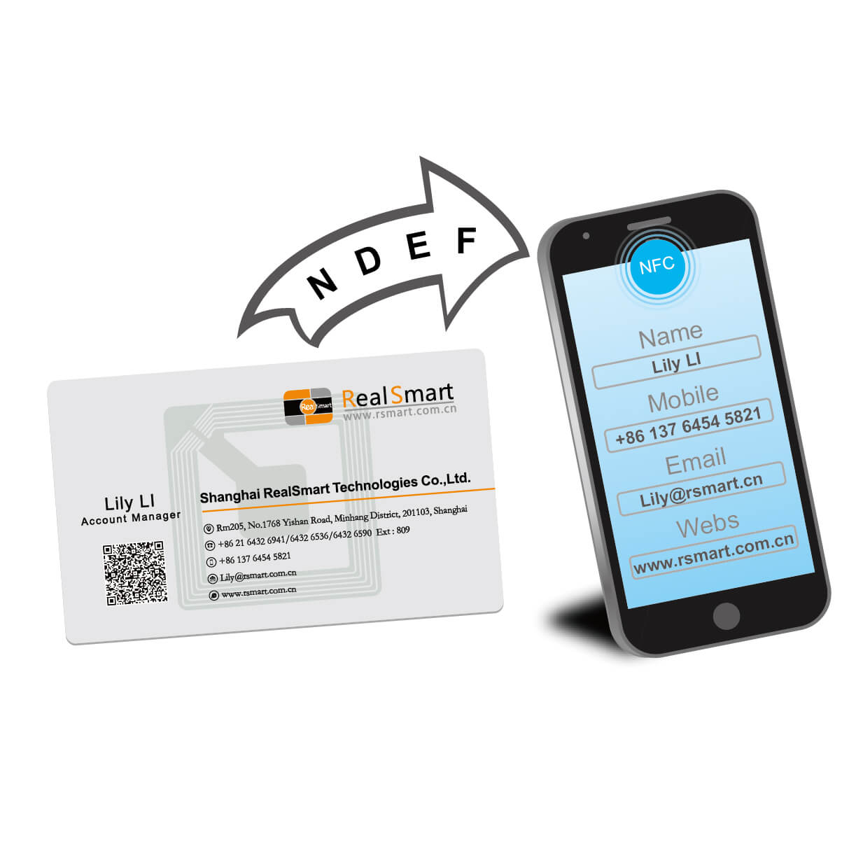 NFC Business Card Encoding Software