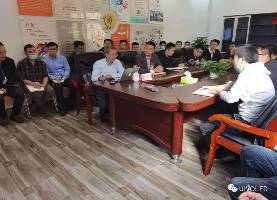 "Xiao Lixin, the Professor of Peking University visit UIV CHEM and Hold a Lecture About "" Blue Light-emitting Technology""."