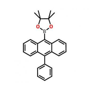 4,4,5,5-Tetramethyl-2-(10-phenyl-9-anthracenyl)-1,3,2-dioxaborolane_460347-59-5_C26H25BO2