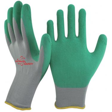 13 Gauge Nylon Knitted Liner Foam Latex Palm Coated Work Gloves NM1350F