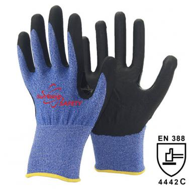 18 Gauge Cut Resistant liner Micro Foam Nitrile Palm Coated Glove DY1850F-H