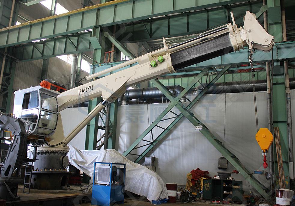 China 10 Ton Crane Boat Lift Crane Hydraulic Telescopic