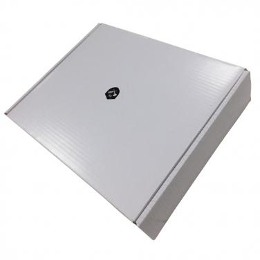 Plain white notebook packaging boxes with logo printing