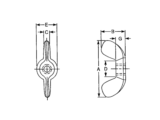 Wing Nut Type A B - ASTM B18.6.X