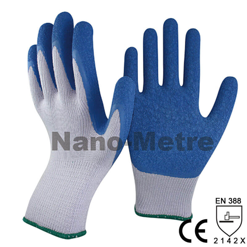 10 Gauge Cotton/Poly Knit Coated Latex Palm Glove -NM10902-GR/B