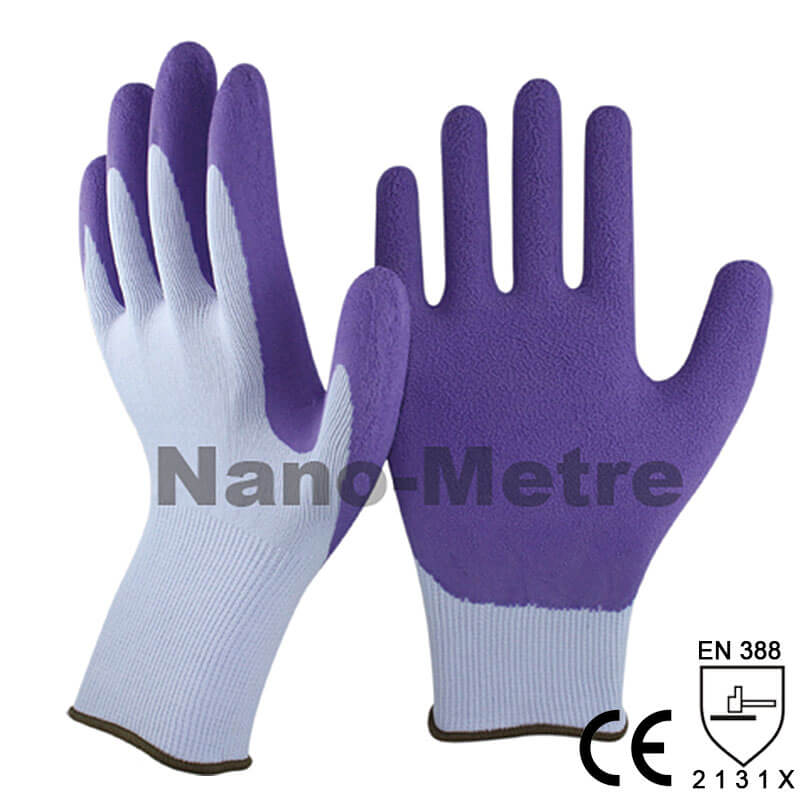 13 Gauge Dexterity Nylon Liner Coated Foam Latex Palm Garden Glove -NM1350F-LG/PP