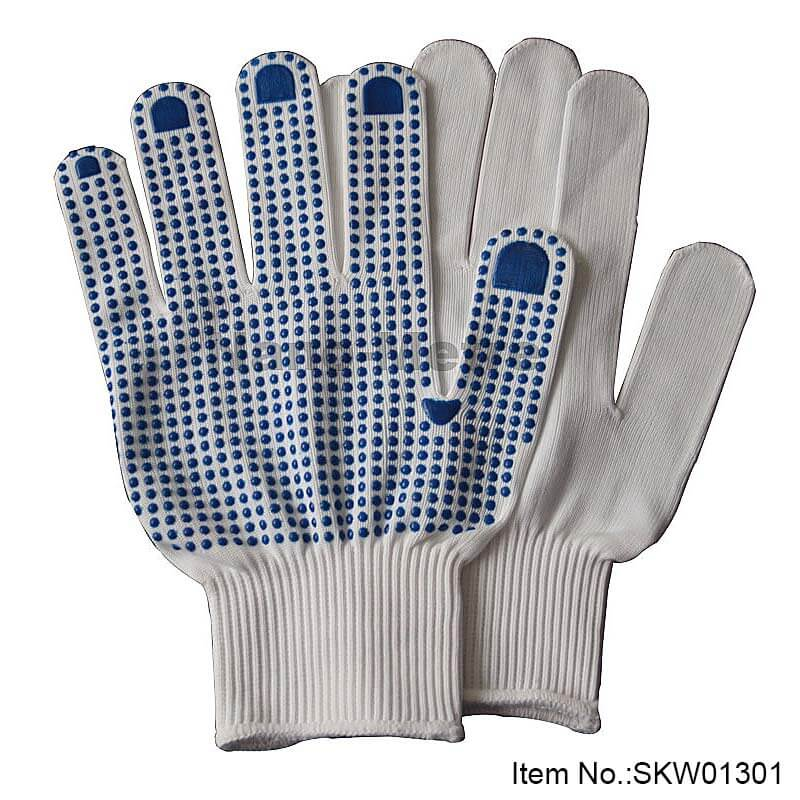 Soft Nylon With Dotted Work Glove - SKW01301