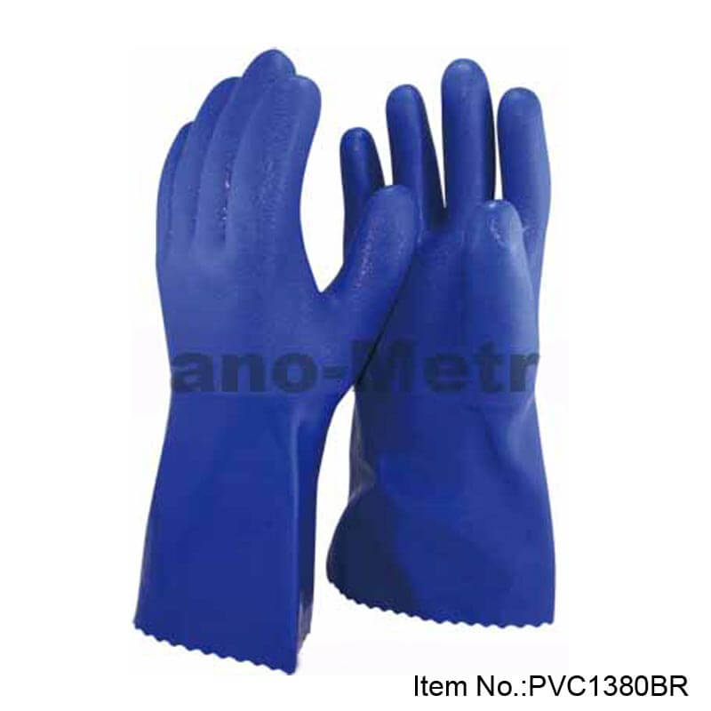 Long Blue PVC Ganutlet - PVC1380-BR