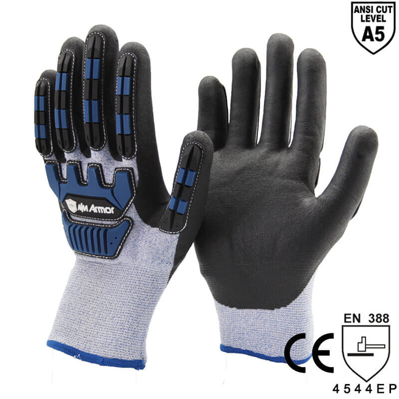 ANSI CUT 5 Winter Type Anti Vibration Safety Keep Warm Glove- DY1350DF-AC02