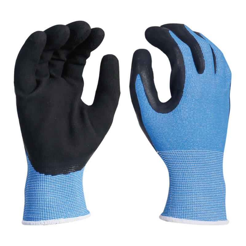 COOLMAX® Fiber Knitted Liner Foam Latex Dipped Palm Glove -NM1350F-CM