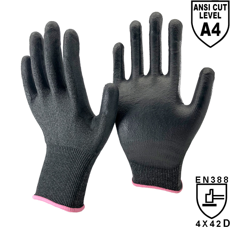 18 Gauge NMFlex-Cut™ Fiber Liner Palm Coated PU Work Glove -DY1850PU-H4