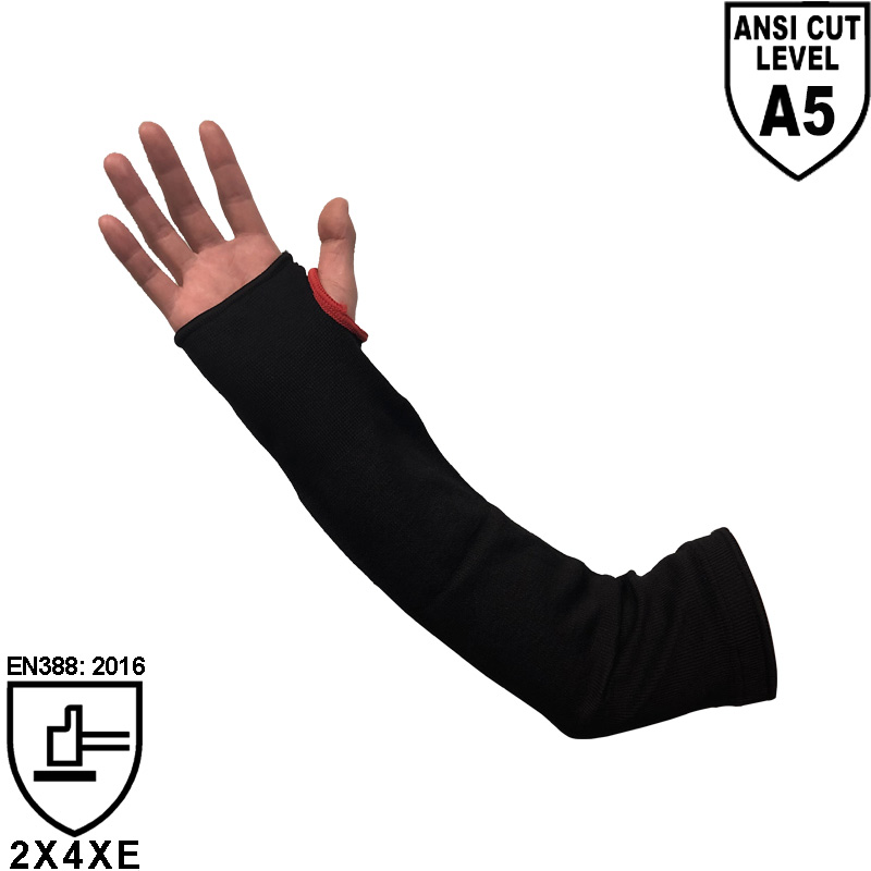 HPPE & Steel Fiber Knitted Cut Resistant Sleeve SKD013-H5