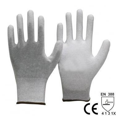 Carbon Fiber Electronic Industrial ESD Gloves- PU20.07P