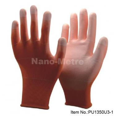 Cheap Orange Polyester Summer Labor Work Glove -PU1350U3-OR