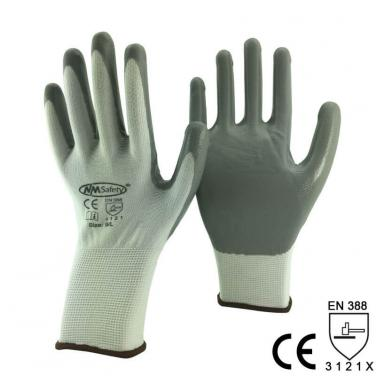 13Gauge Polyester Knitted Nitrile Work Glove -NY1350P-LG