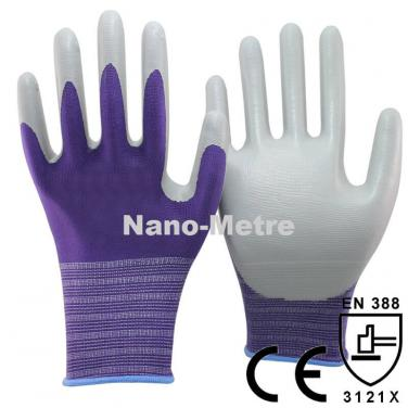 Grey Nitrile Coated Palm Garden Work Glove- NY1350-PP/GR