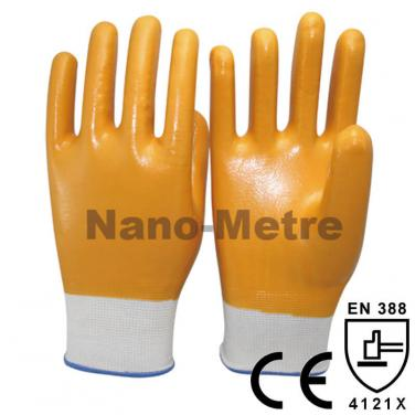 Yellow Nitrile Dipped Work Glove- NY1359-SY