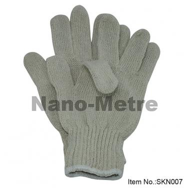 7Gauge Natural Polycotton Safety Gloves- SKN007