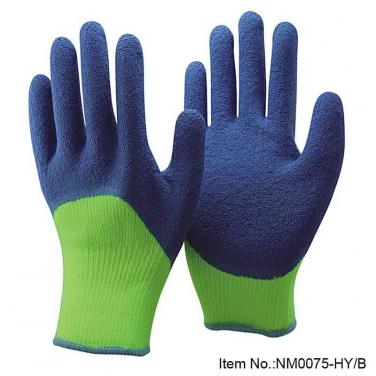 Winter Type Latex Dipped Safety Protective Work Glove -NM0075-HY/B