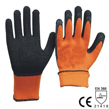 Economic Style 7 Gauge Nappy Polyester Protective Glove -NM007E-OR/BLK