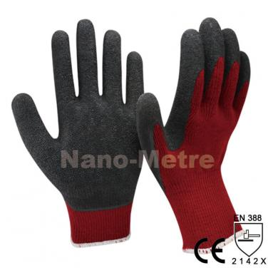 Winter Grip Safety Gloves With Latex Dipping Palm -NM10930-DR/BLK