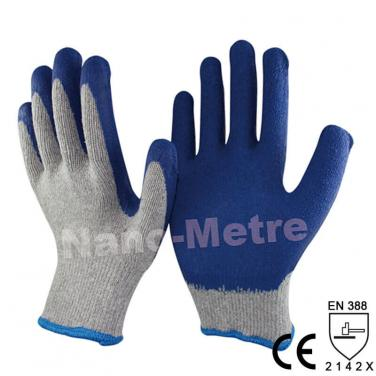 Economic Style Polycotton Coated Latex Work Glove - NM10902E-GR/B