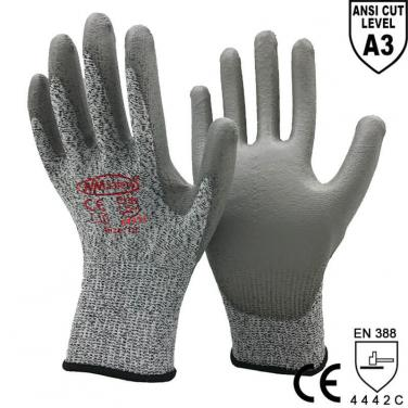 ANST CUT 3 High Quality Anti-Cut Working Protective Glove Factory -DY110-PU-H