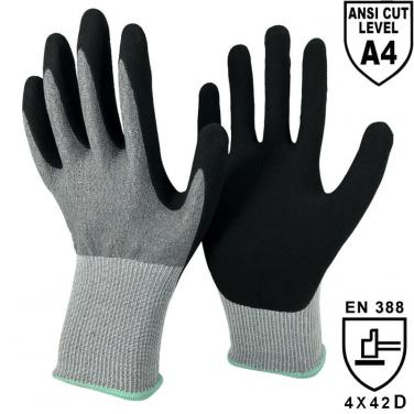 18 Gauge NMFlex-Cut™ Fiber Liner Palm Coated Sandy Nitrile Work Glove -DY1850S-H4
