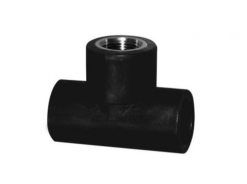 HDPE Socket Fitting-Female Tee(Copper Thread)