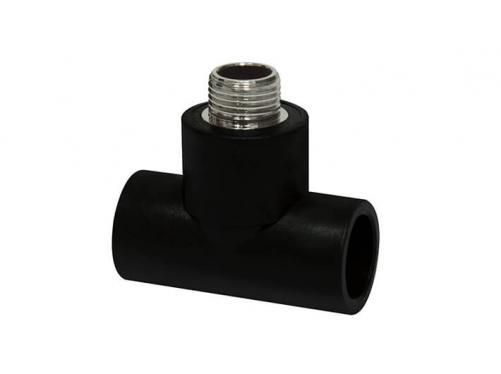 HDPE Socket Fitting-Male Tee(Copper Thread)