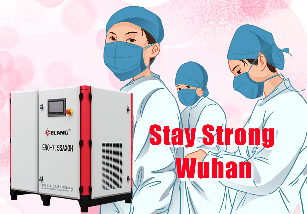 Six Oil Free Scroll Compressors were Donated to Wuhan Hospital