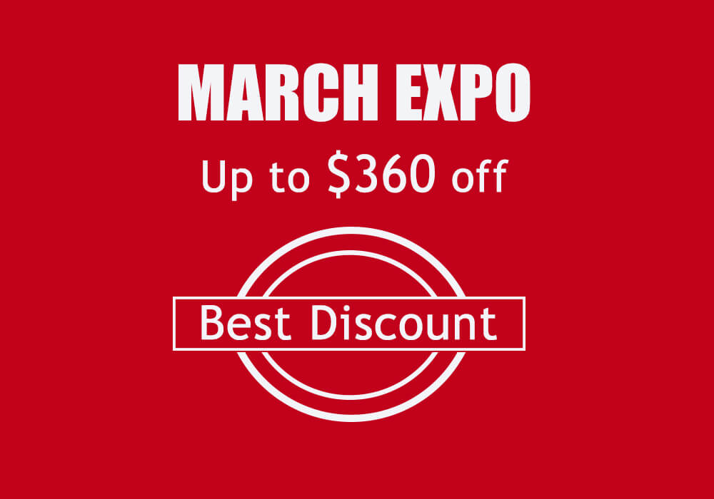 Best Discount, Best March Expo!