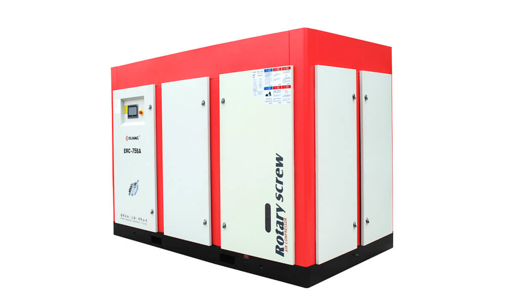 75HP 55Kw Energy Saving Two Stage Screw Air Compressor