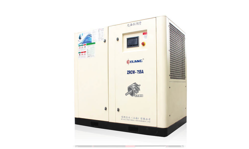 75HP 55Kw Oil Free Screw Air Compressor