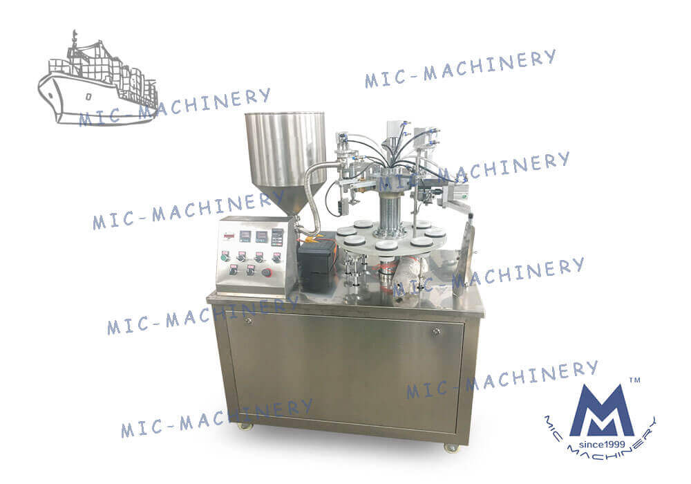 MIC-R30 semi automatic soft tube filling machine exported to the republic of korea
