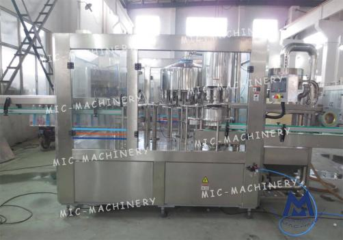 Automatic plastic bottle filling machine