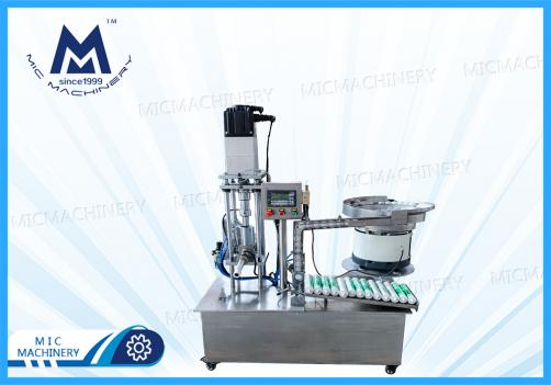 Semi automatic silica gel silicone sealant filling capping machine for silicone cartridge