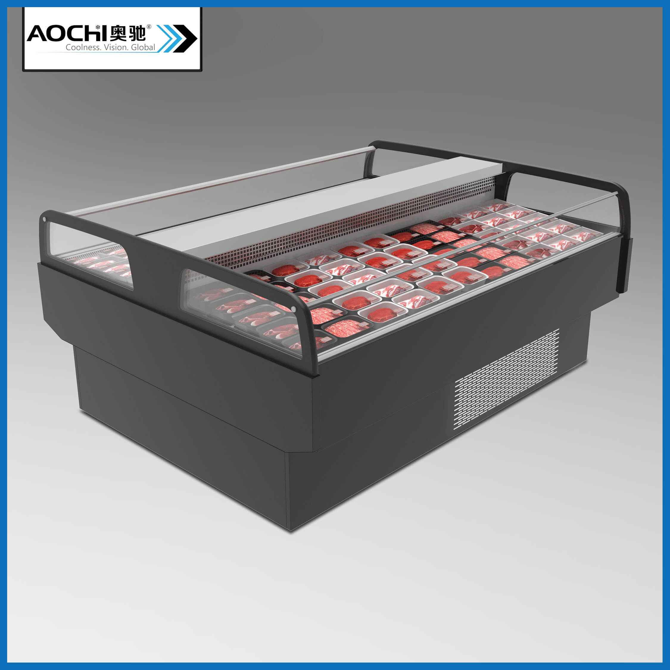 DUAL ZONE FRESH MEAT SERVE-OVER COUNTER(ASCP-DD)