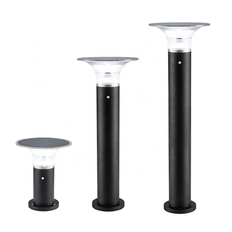 3W High Quality Aluminum Walkway Path Decorative Waterproof Outdoor Landscape Solar Led Bollard Light for Garden Lawn