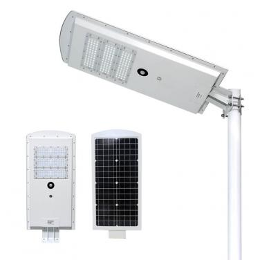 High Lumens Waterproof IP65 Motion Sensor Solar Power 40w 50w Integrated Led Solar Street Lamp Outdoor T123