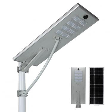 60w 80w All In One Solar Led Street Light Motion Sensor Outdoor Waterproof T6-80W