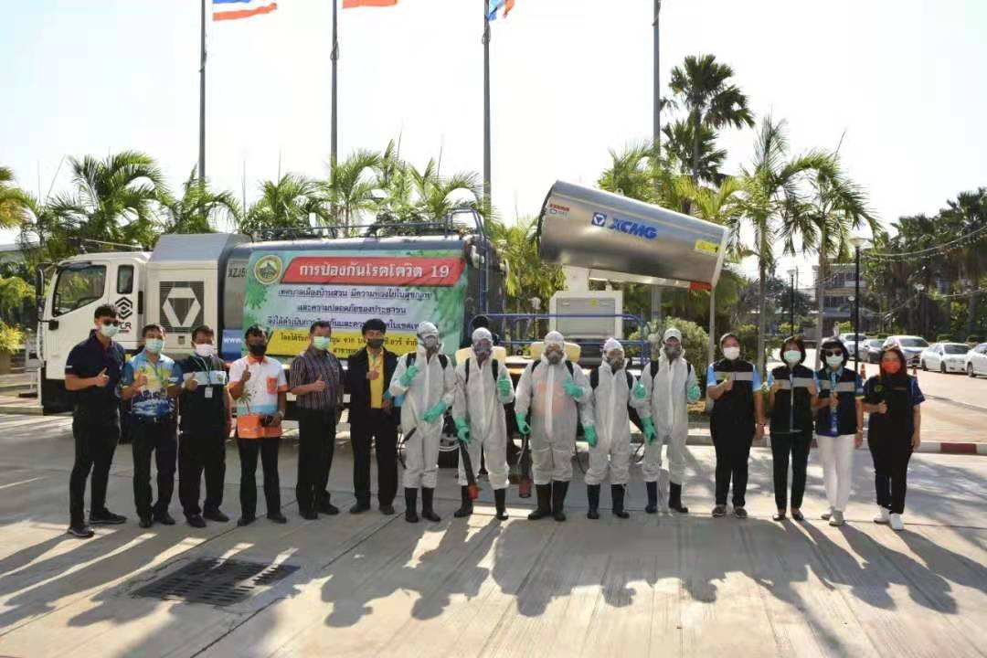 Shandong Huali sprayer 100m range Disinfection and epidemic prevention operations for Bangkok, Thailand